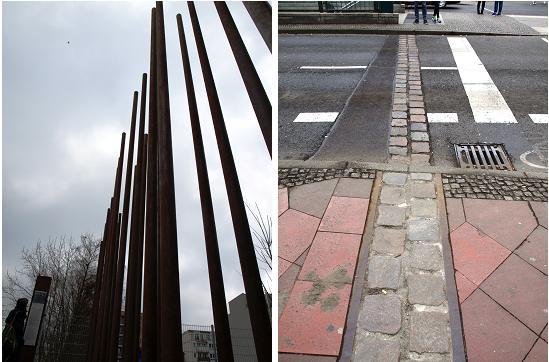 Representaciones del antiguo muro de Berlín./Tamara Velázquez - Con la pluma en abndeja